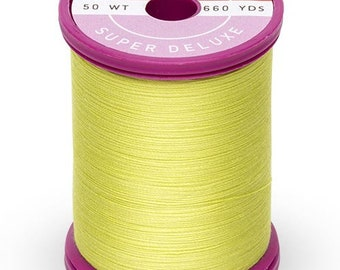 Cotton + Steel Thread by Sulky - 100% Cotton 50 wt - Neon Yellow