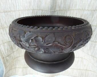 Black Forest Wooden Fruit Bowl Music Box