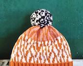 Map Cracking Detachable Pom Pom Beanie Hat | for men | for women | colorful & cozy | handmade customized gift