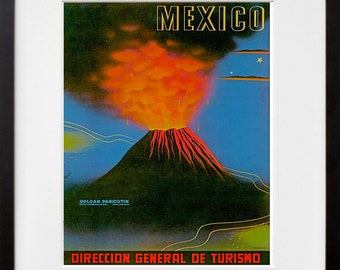 Art Mexico Travel Print Mexican Vintage Poster (TR150)