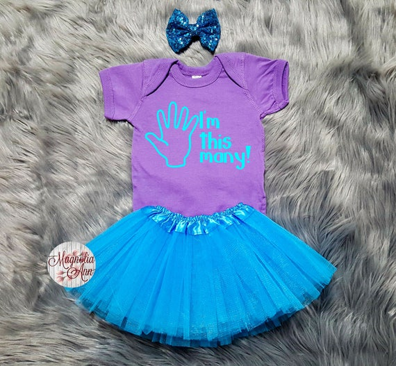 I'm This Many 5th Birthday Tutu Outfit, 5th Birthday Tutu Outfit, Toddler 5th Birthday Shirt, Toddler Birthday, 5th Birthday Outfit Girl