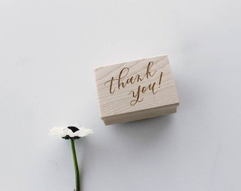 Thank You Stamp // Calligraphy // Rubber Stamp