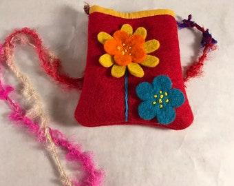 small felt bag