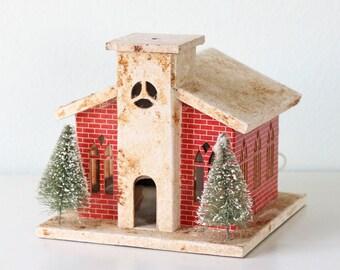 Vintage Lighted Christmas Church