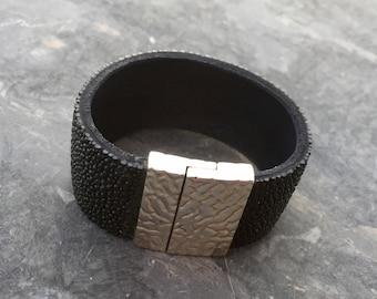 Stingray leather cuff