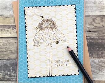 Daisy Little Thank You II Card