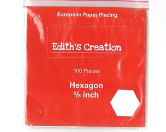 100 templates paper hexagons 5/8 inch