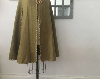 vintage NAVOJO reversible poncho wool oversized fall winter cape size free