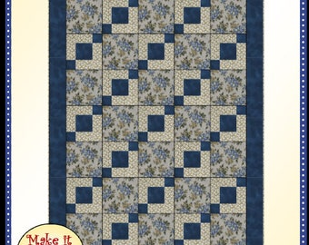 Downloadable Stepping Stones Quilt Pattern Easy 3 Yard design