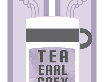 Tea Earl Grey Hot - Star Trek Inspired Illustration