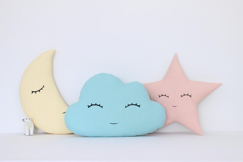 Set von Wolke Mond und Sterne Kissen Kinder Kissen