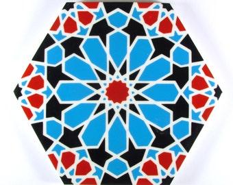 Hand Painted Moroccan Tiles - Ceramic Accent Tiles - Decorative Tiles  - Backsplash Tiles - Kitchen Tiles - Ceramic Tiles - Bathroom Tiles
