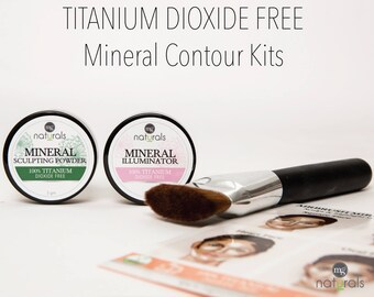 100% Titanium Dioxide Free, Vegan, Mineral Contour & Highlighting kit for easy contouring