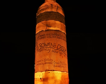 Repurposed Rowan's Creek Bourbon Bottle Lamp