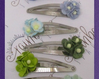 Flower snap clips