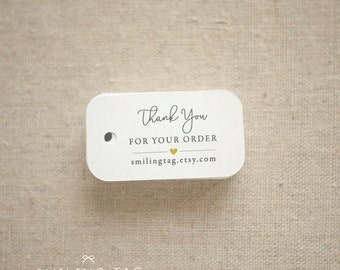 Thank you for Your Order Etsy Shop Product Tags Personalized Gift Tags - Etsy Shop Hang Tags- Etsy Shop Labels - Set of 30 (Item code: J588)