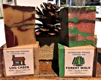 Log Cabin & Forest Walk HANDMADE SOAP