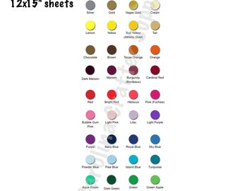 "Siser EasyWeed HTV 12x15"" Sheets Iron-On Vinyl Heat Transfer Vinyl Pick Your Colors"