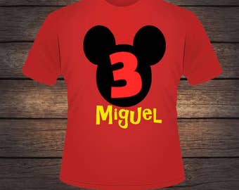 Mickey Mouse Birthday 3 Shirt