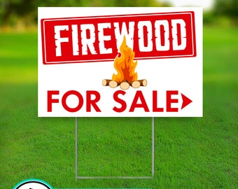 Firewood for Sale Sign - Firewood Sign - Camping Wood - Camp Wood - For Sale Sign