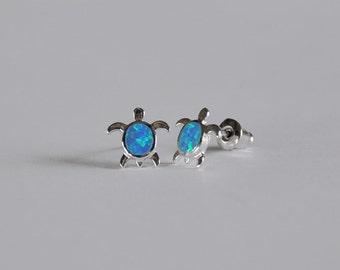 Sparkling Sterling Silver Little Girls Turtle Studs...Free Shipping!