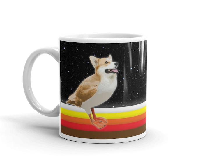 Porgi Mug // Star Wars Porg Inspired Corgi Parody // 11oz mug