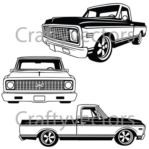 Chevrolet C10 Truck 1970 to 1971 Vector File