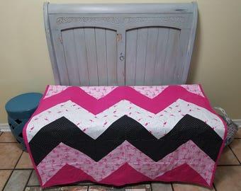 Handmade Flamingo Quilt