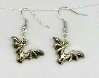 Bat Charm Earrings
