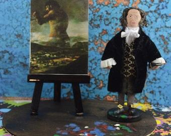 Francisco de Goya Spanish Artist Diorama Art Scene Miniature Sized