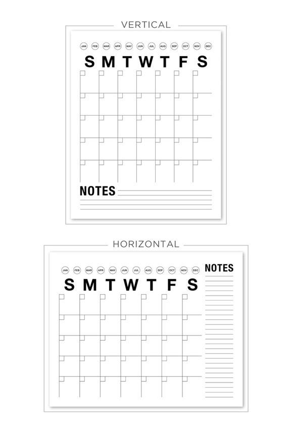 Nett Leere Monatliche Kalendervorlagen Ideen - Entry Level Resume ...