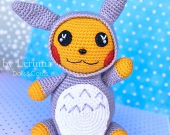READY TO SHIP Amigurumi Pokemon Pikachu, Plush pokemon Pikachu, Pikachu - Tototro, Crochet pokemon Pikachu, Pokemon Plushie