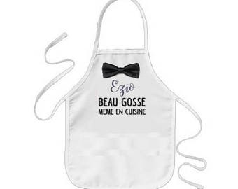 "Kids apron personalised ""handsome"""