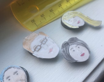 Illustrated Face Magnets