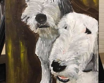 Painting of pups