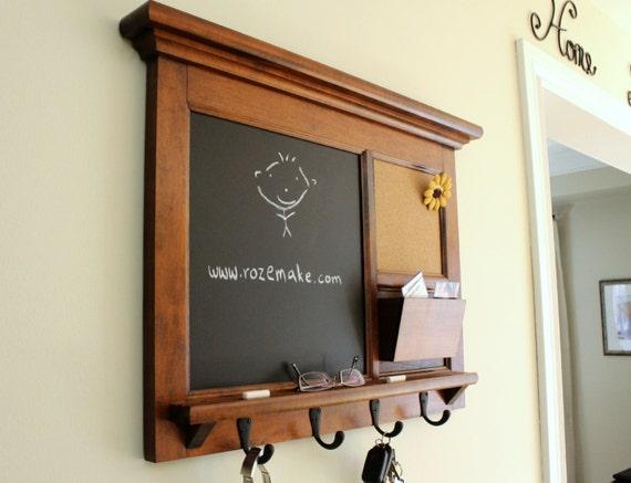 Family Organizer Maple Hardwood Home Decor Wall Hanging Mail