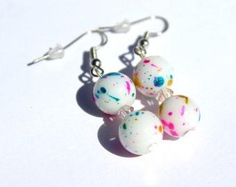 Jawbreaker Earrings, Jawbreaker Candy, Faux Candy Earrings, Drop Earrings, Jawbreaker Beads, Candy Earrings, Fake Candy Jewelry, Easter Gift
