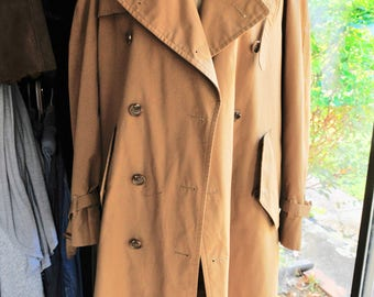 VIntage Mens Wool Lined Detachable Trench Coat