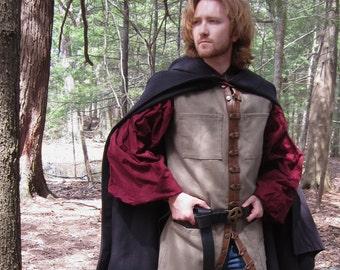 Pocket Vest - Mens Denim Vest - Adventurers Vest - Medeival Vest - Renaissance Vest