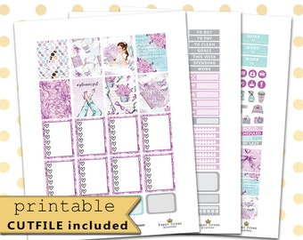 PLANNER GIRL Weekly Planner Sticker Kit/Printable Planner Stickers/Planner Stickers for use with Erin Condren Life Planner /Silhouette