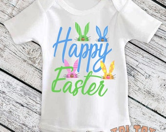 Happy Easter Bodysuit, Easter Bunny, Easter Rabbit Outfit, Easter Bunny for Babies, Toddlers, One Piece
