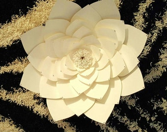 Extra Large paper flower with diamanté detailing 25 inches