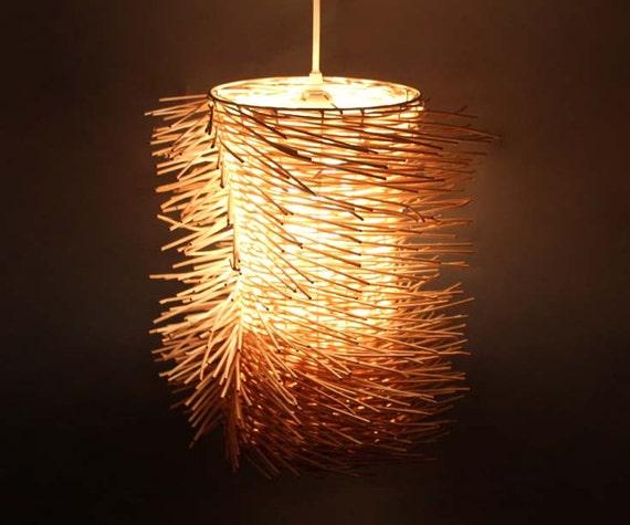 wave style rattan pendant lights rattan bird nest. Black Bedroom Furniture Sets. Home Design Ideas