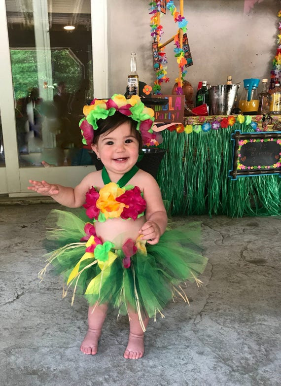 Birthday Luau Outfit Baby Girl 1st Birthday Outfit