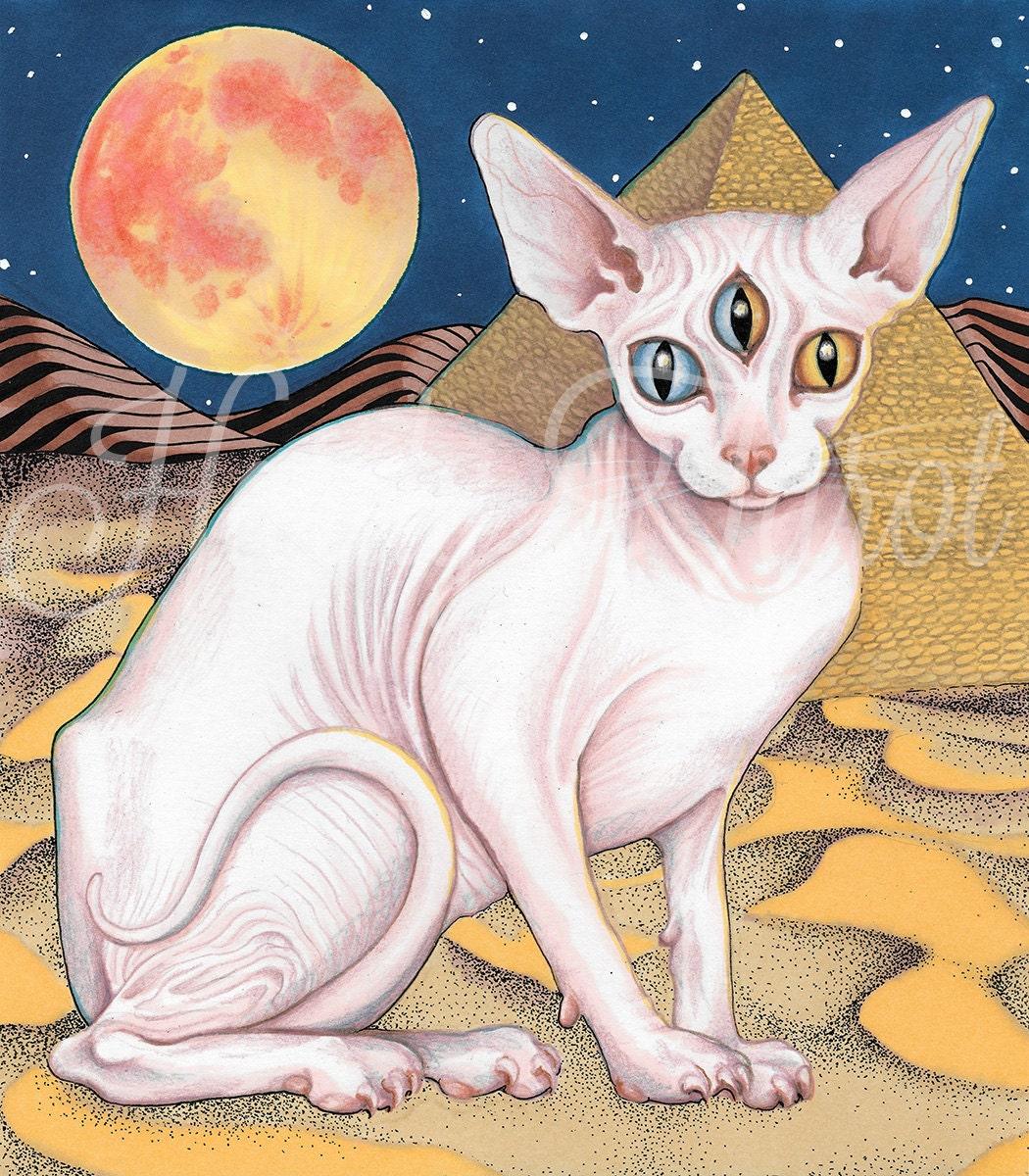 Sphynx Cat Art