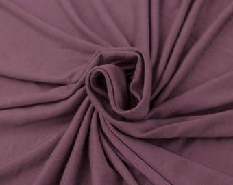 Mauve 2017 Rayon Spandex Jersey Knit Fabric by the Yard - 1 Yard Style 409