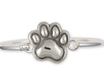 Dog Paw Bracelet Jewelry Sterling Silver Handmade Dog Bracelet PW20-HB