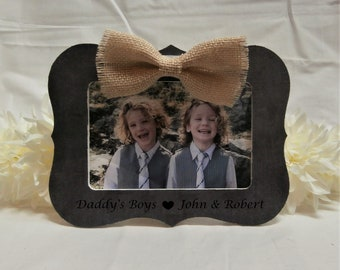 Fathers day gift from kids twins twin boys, Dad gift from son to father gift, Fathers day frame, Daddy picture frame 4 x 6