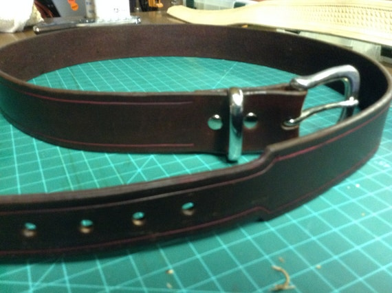 Leather Belt handcrafted and tapered with premium leather for Dress Belt with Buckle
