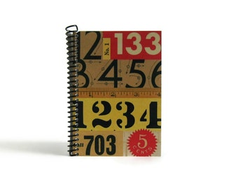 Numbers A6 Spiral Notebook, Blank Sketchbook, Writing Journal, Back to School, Diary Journal, Pocket Cute Notebook, Gifts Under 20, Ciaffi